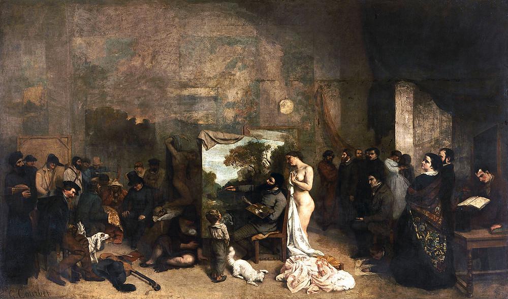 L'atelier du peintre, Gustave Courbet, 1855, Musée d'Orsay