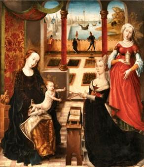 La Vierge à l'enfant avec Marie-Madeleine et une donatrice (Peinture flamande)
