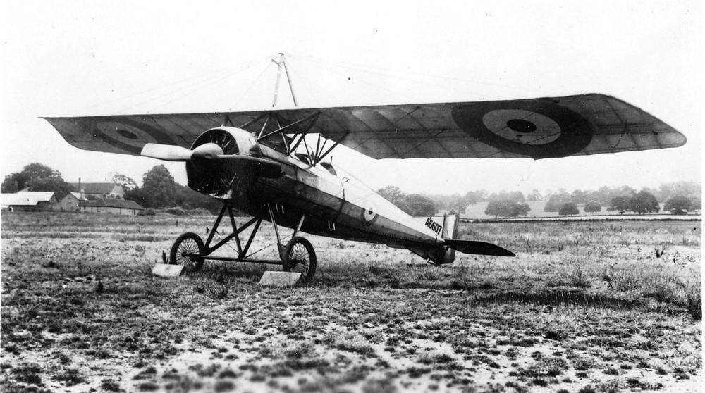 Photographie de l'aéroplane Morane-Saulnier P français durant la Première Guerre Mondiale