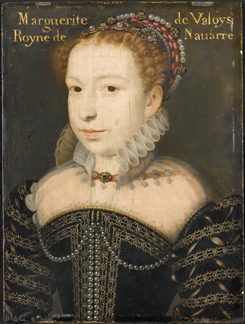 Peinture - Portrait de Marguerite de Valois, reine de Navarre (1553-1615),  François Clouet  © RMN-Grand Palais (domaine de Chantilly) / René-Gabriel Ojéda