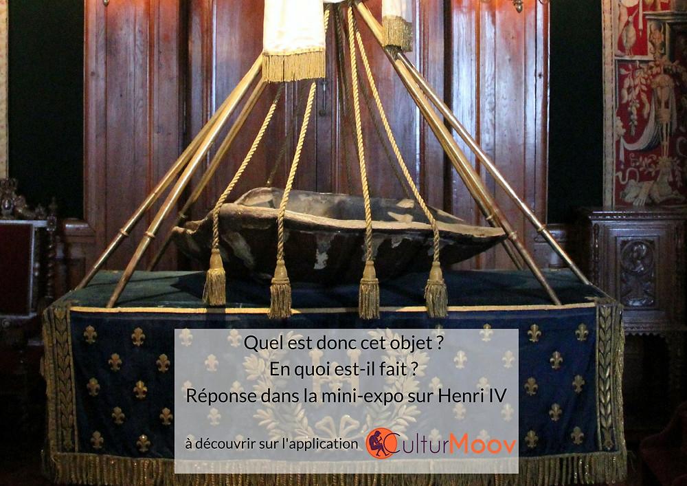 """Présentation de l'application CulturMoov et de la """"mini-exposition"""" sur le Berceau d'Henri IV"""