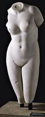 Aphrodite de Cnide du sculpteur Praxitèle, au Louvre