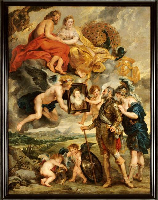 Peinture - Henri IV reçoit le portrait de Marie de Médicis, Pierre Paul Rubens  © RMN-Grand Palais / René-Gabriel Ojéda / Thierry Le Mage