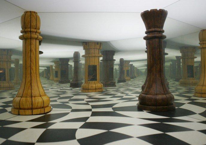 Illusion d'optique dans la Maison de la Magie