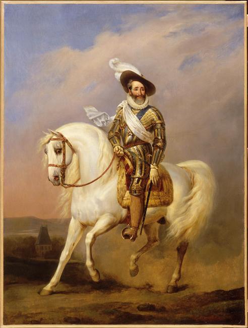 Peinture - Portrait équestre d'Henri IV, Jean-Baptiste Mauzaisse, 19e s.,  © RMN-Grand Palais (Château de Pau) / René-Gabriel Ojéda
