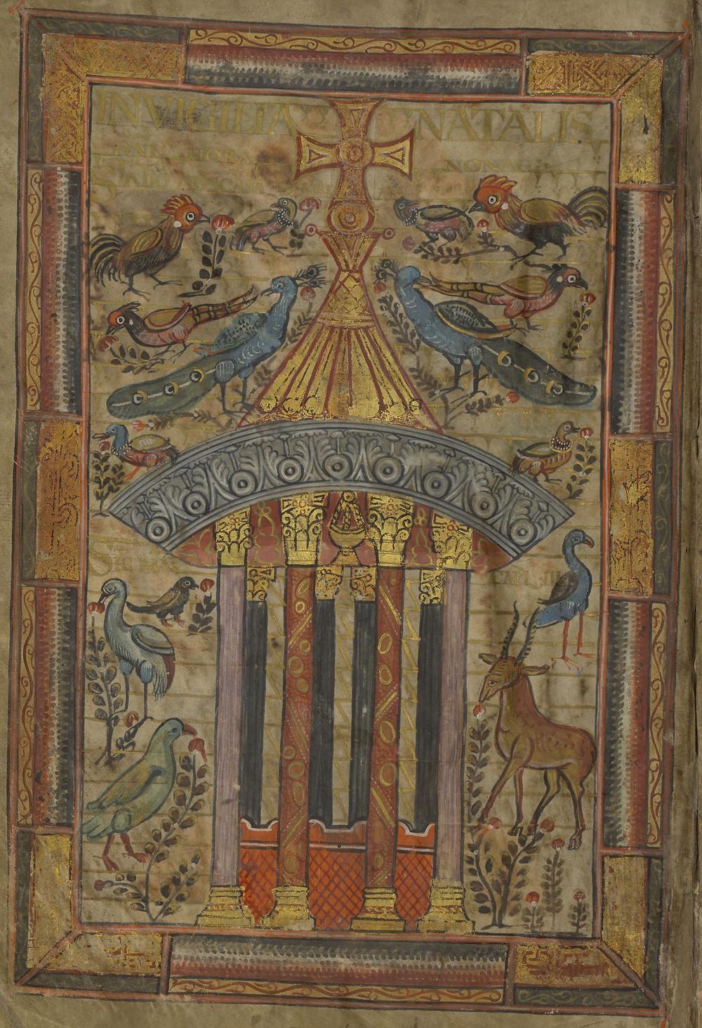 Enluminure, Évangéliaire de Charlemagne, BnF