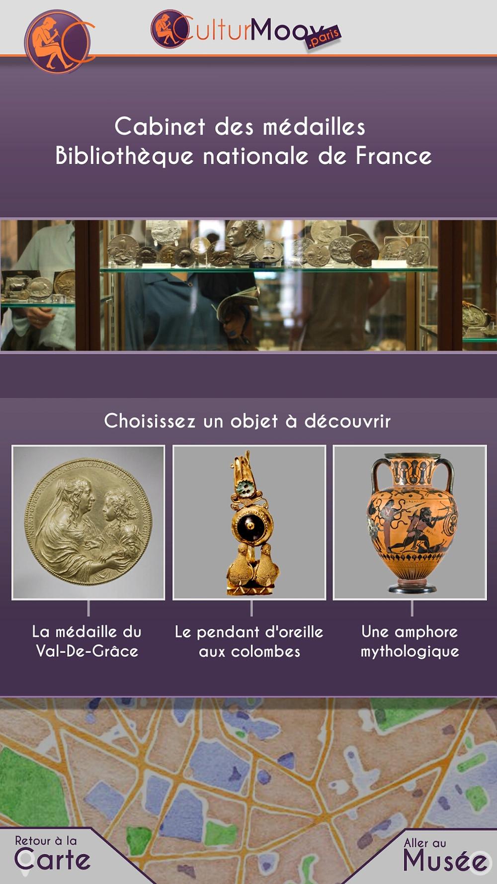 Les objets du Cabinet des médailles