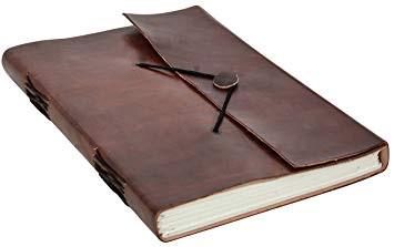 Exemple de journal avec couverture en cuir