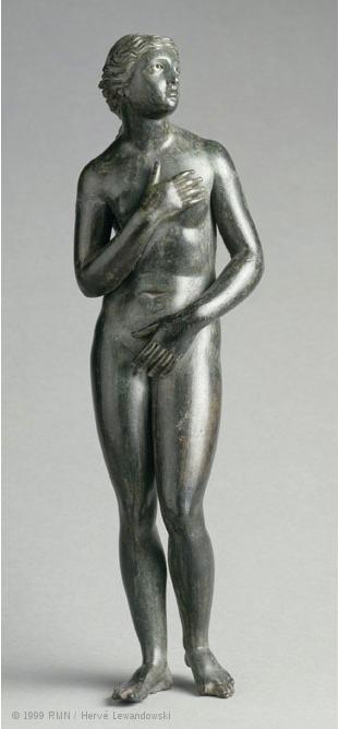 Aphrodite pudique au Louvre