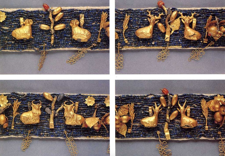 Éléments de diadème de la reine Pu'Abi