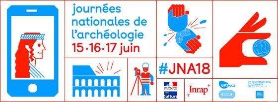 Affiche des Journées Nationales de l'Archéologie 2918