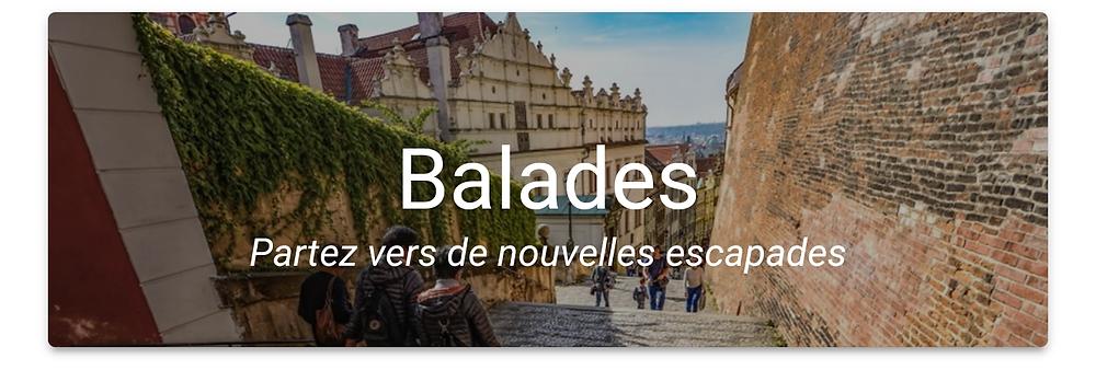 """Bouton """"Balades"""""""
