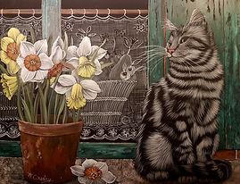 25) Chat fleurs printemps 20181009_21263