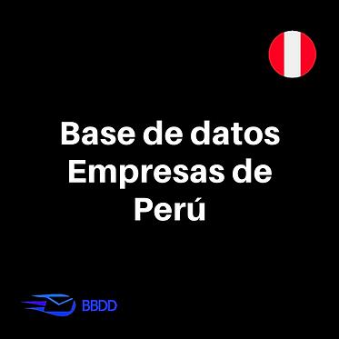 Base de datos lista de empresas peruanas en Excel