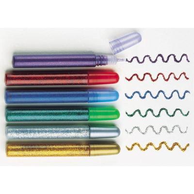 Marcadores com gel glitter