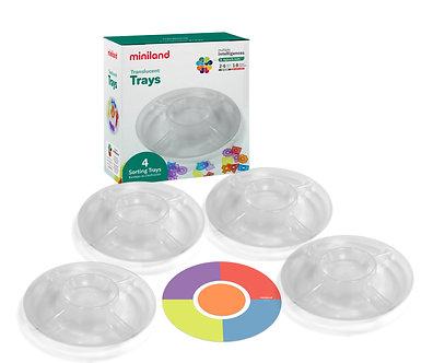 Bases circulares translúcidas