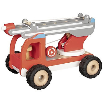 Carro de bombeiros com escada giratória
