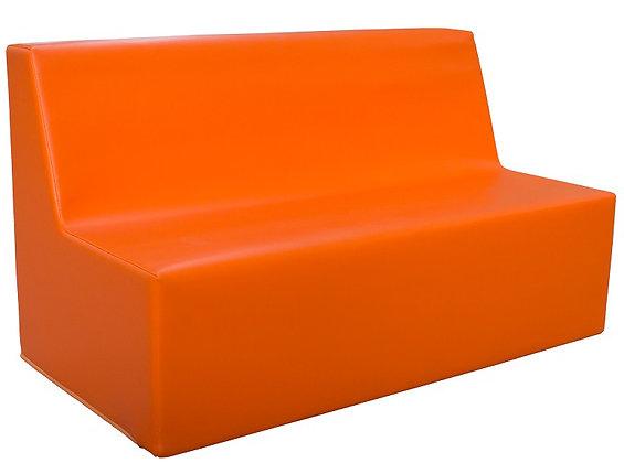 Sofá reto duplo