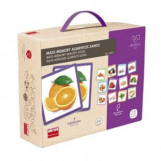 Maxi-memória comida saudável