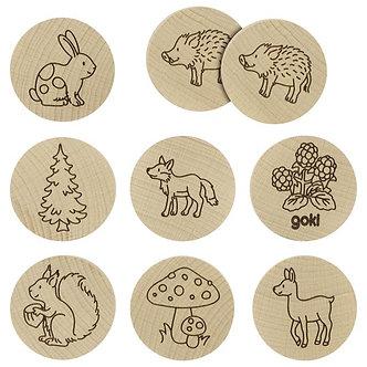 Jogo de memória - animais da floresta