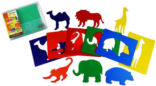Stencil Animais do zoo