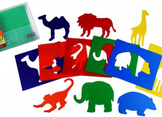 Stencil Animais da selva