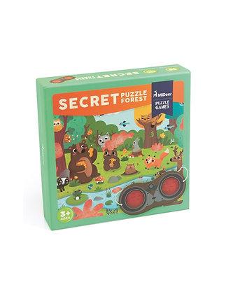 Puzzle secreto na floresta