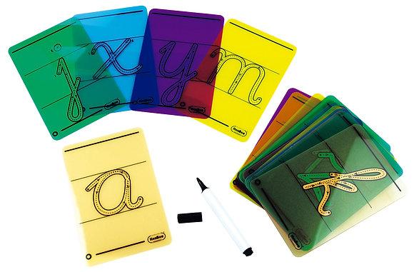 Letras cursivas para traçar