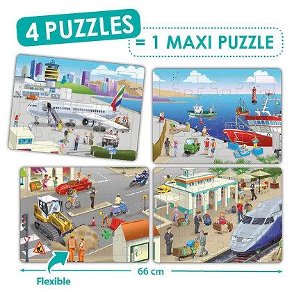 """Puzzles cooperativo """" A cidade """""""