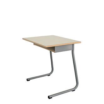 Mesa individual com subtampo