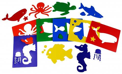 Stencils  Animais do Mar