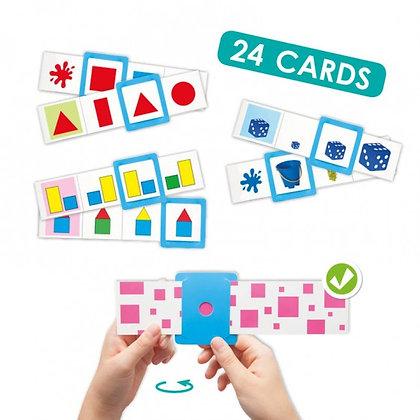 Jogo de associação cores , formas e tamanhos