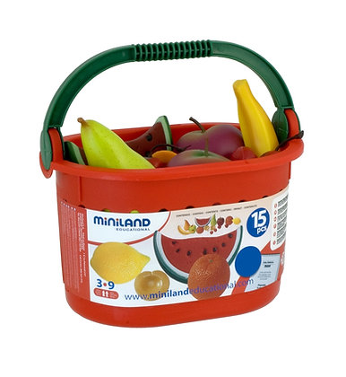 Conjunto Frutas com cesta