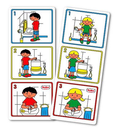 Higiene rapaz e rapariga