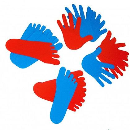 Conjunto mãos e pés