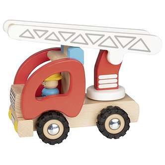 Carro de bombeiros com escada