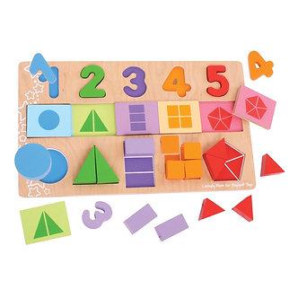 Puzzle Frações
