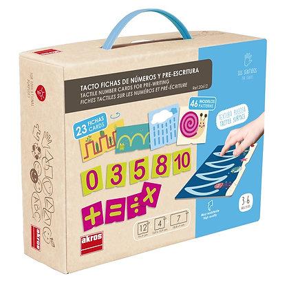 Tato fichas de números e pré-escrita