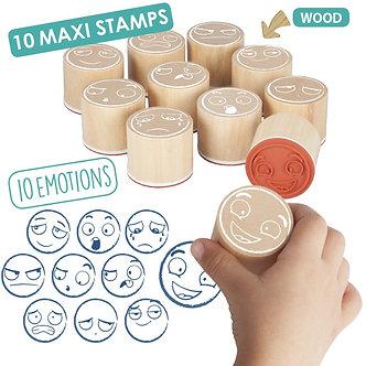 Maxi-carimbos das 10 emoções