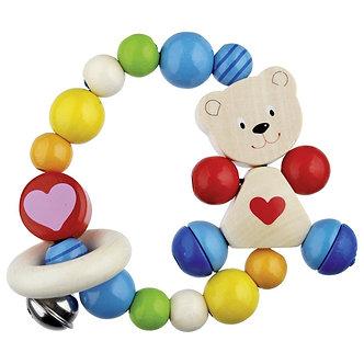 Anel elástico Urso com coração