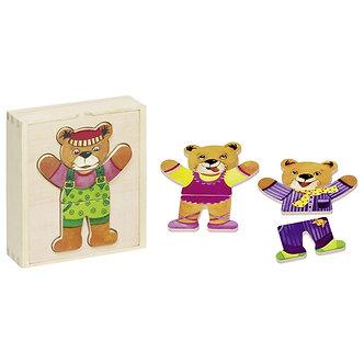 Puzzle vestir o urso