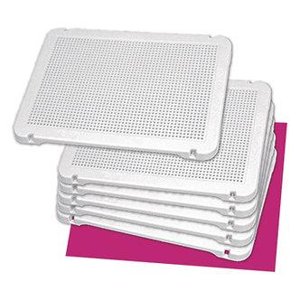 Conjunto 6 placas brancas