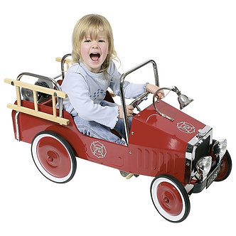 Carro de bombeiros com pedal