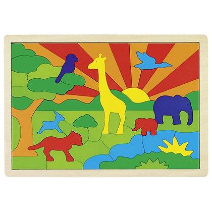 Puzzle animais da selva