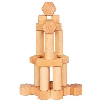 Blocos de construção em madeira