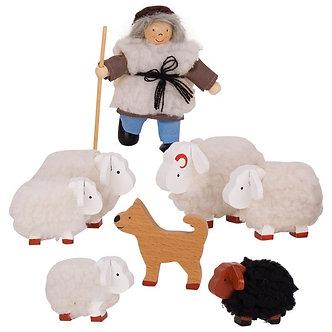 Pastor e as ovelhas