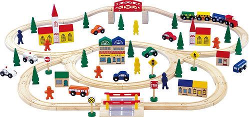 Pista de comboio - A  vila