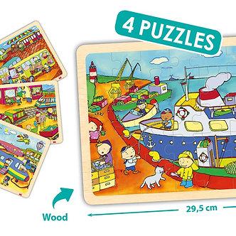 Puzzles os transportes