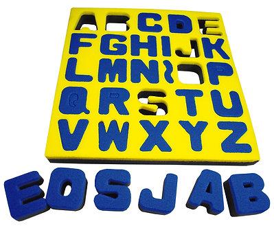 Carimbos letras maiúsculas
