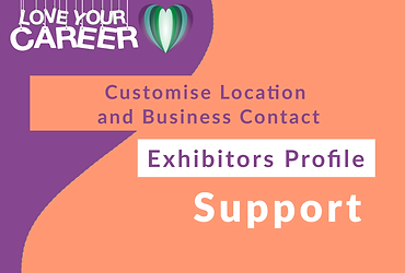 Customise Location and Business Contact   Exhibitor
